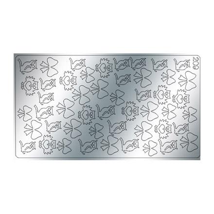 Freedecor, Металлизированные наклейки №209, серебро фото