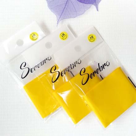 Купить Serebro, Фольга для дизайна ногтей №18, желтая матовая