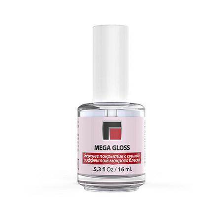 Milv, Топ с эффектом мокрого лака Mega Gloss, 16 мл masura топ покрытие basic wet gloss top с эффектом мокрого блеска 6 5 мл
