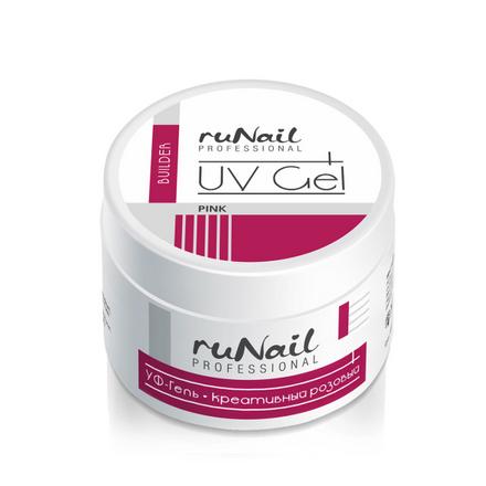Фото - ruNail, УФ-гель креативный (розовый), 15 г лампа для маникюра uv runail gl 515 розовый