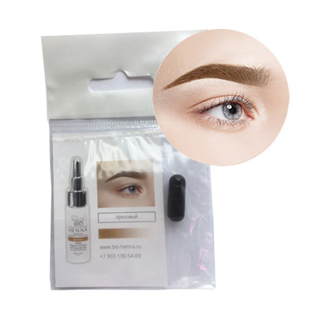 Bio Henna Premium, Тестер хны для бровей, цвет ореховыйКраски для бровей<br>Благодаря одноразовой тестовой капсуле вы сможете подобрать желаемый цвет хны для окрашивания бровей. Вес: 0,2 г.