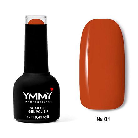 YMMY Professional, Гель-лак «Терракотовый всплеск» №001, Коричневый  - Купить