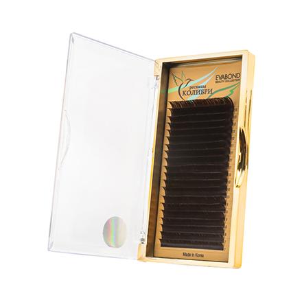 Купить EVABOND, Ресницы на ленте «Колибри», D=0, 10, C-изгиб, темный шоколад