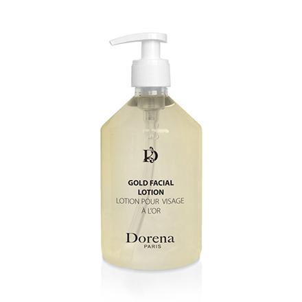 Dorena, Лосьон для лица Gold, 500 млТоник для лица<br>Очищающий лосьон с микрочастицами золотой слюды.