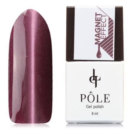 POLE, Гель-лак №52, Ягодно-розовыйPOLE<br>Магнитный гель-лак (8 мл) приглушенный розово-лиловый, с лиловыми микроблестками, плотный.<br><br>Цвет: Фиолетовый<br>Объем мл: 8.00