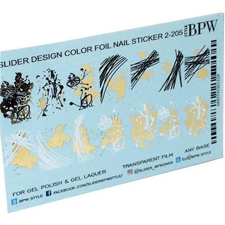 Купить BPW.style, Слайдер-дизайн «Паутинка с фольгой» №2-205, золото
