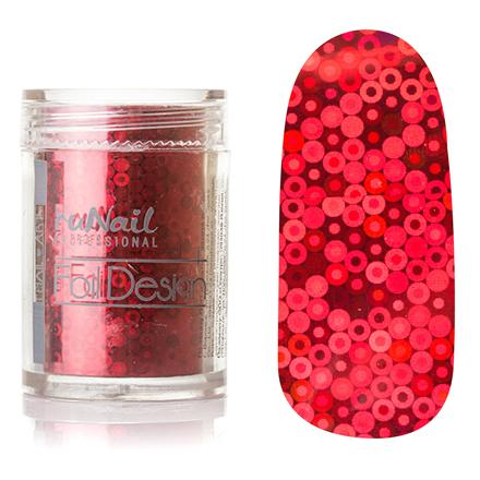 ruNail, дизайн для ногтей: фольга 1991 (красный, голографический)
