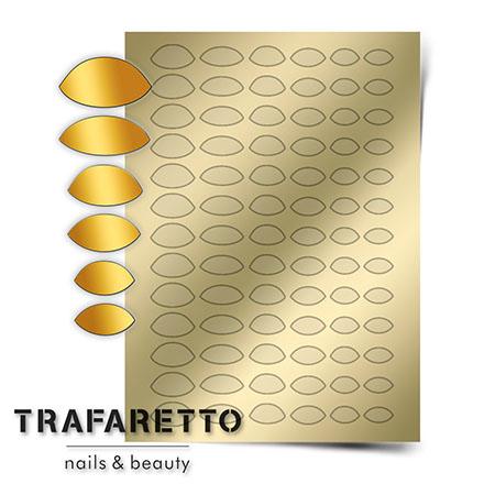 Купить Trafaretto, Металлизированные наклейки CL-10, золото