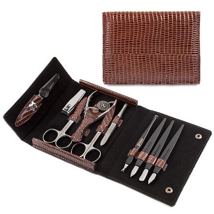 Zinger, Маникюрный набор, MS-F-3-S, коричневый