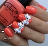 Лак  Color Club, цвет № 753 Coral Cascade с дизайном Dashing Diva
