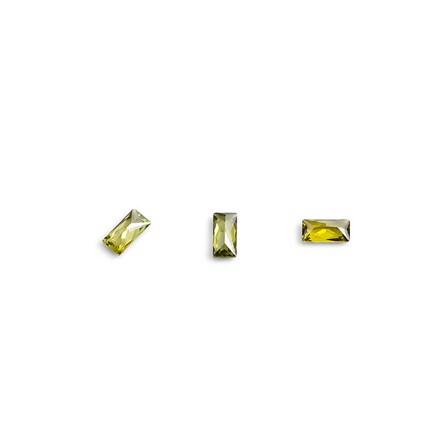 Купить TNL, Кристаллы «Багет» №4, зеленые, 10 шт., TNL Professional