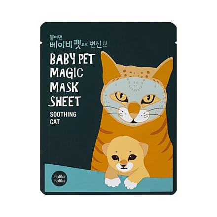 Holika Holika, Маска-мордочка смягчающая Baby Pet Magic Mask Sheet, Кошка цена