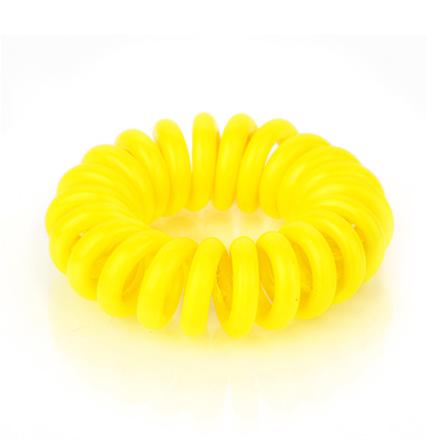 Резинка для волос силиконовая, неоново-желтая