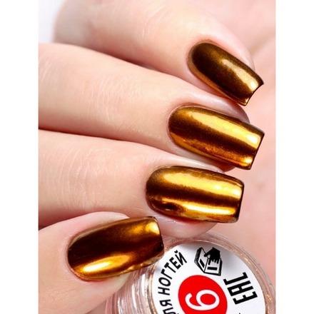 Milv, Втирка для ногтей №6Втирка для ногтей<br>Зеркальная втирка для дизайна ногтей (0,3 г).<br>