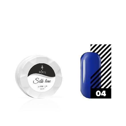 POLE, Гель-краска Silk line №04, синяяГель-краски POLE<br>Гель-краска для тонких линий (6 мл).