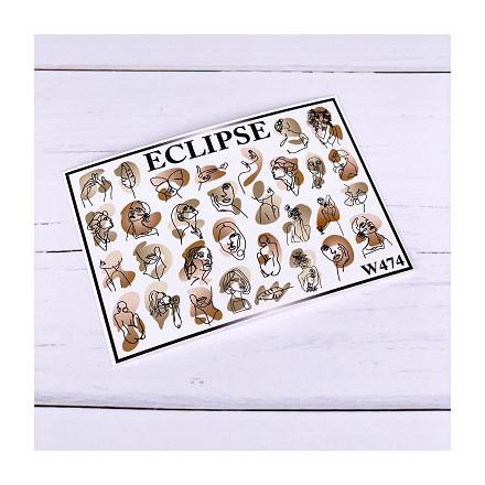 Купить Eclipse, Слайдер-дизайн для ногтей W №474