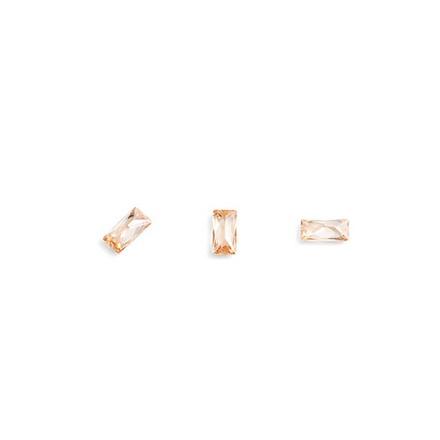 Купить TNL, Кристаллы «Багет» №1, шампань, 10 шт., TNL Professional