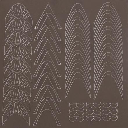 KrasotkaPro, Металлизированные наклейки M5s, серебро