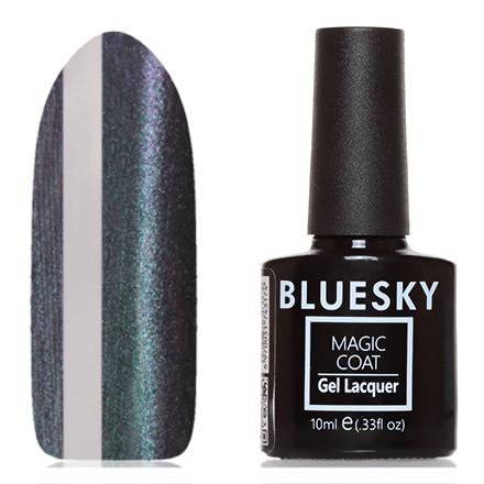 Bluesky, Гель-лак Magic Cat Eye №01, Звездный дождьBluesky Шеллак<br>Магнитный гель-лак (10 мл) на прозрачной подложке черного цвета, с бирюзово-зелеными/пурпурными микроблестками, полупрозрачный.<br><br>Цвет: Зеленый<br>Объем мл: 10.00