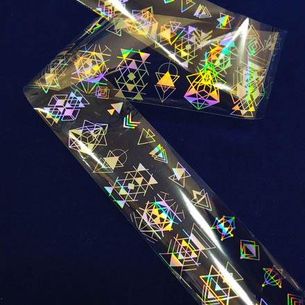 Купить De.Lux, Фольга переводная голографическая «Геометрия»
