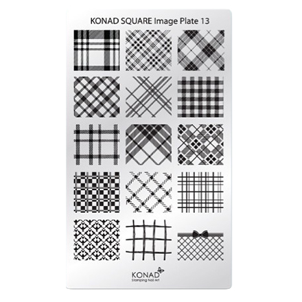 все цены на Konad, Пластина для стемпинга Square Image Plate №13, Ткань онлайн