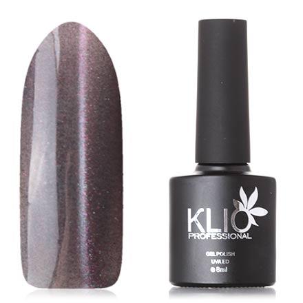 Klio Professional, Гель-лак «Кошачий глаз», №218Klio Professional<br>Гель-лак (8 мл) на прозрачной подложке серого цвета, с серебристыми и розовыми микроблестками, полупрозрачный.<br><br>Цвет: Черный<br>Объем мл: 8.00