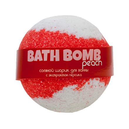 Купить Savonry, Бурлящий шарик для ванны Peach, 100 г