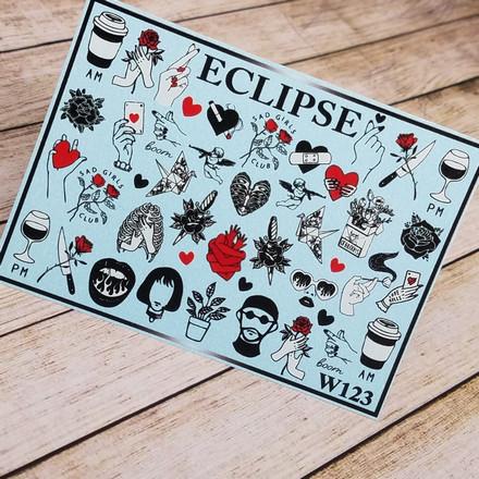 Купить Eclipse, Слайдер-дизайн для ногтей W №123
