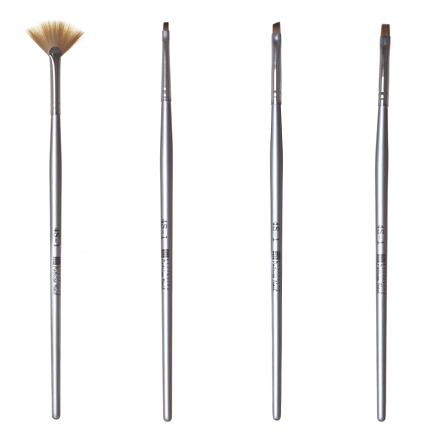 Patrisa nail, Набор кистей для дизайна, 4 шт