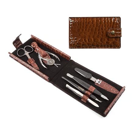 Zinger, Маникюрный набор, MS-F1-S, коричневый