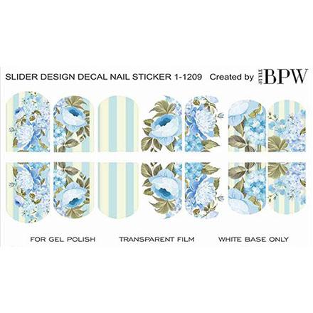 BPW.Style, Слайдер-дизайн «Голубые цветы» №1-1209
