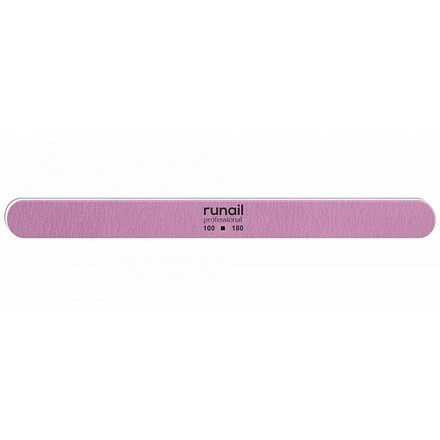 Купить RuNail, Пилка для искусственных ногтей, розовая, закругленная, 100/180