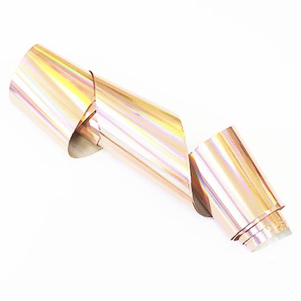 Купить De.Lux, Фольга переводная голографическая, розовое золото
