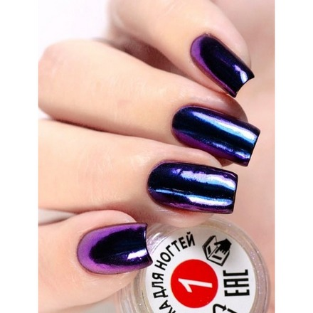 Milv, Втирка для ногтей №1Втирка для ногтей<br>Зеркальная втирка для дизайна ногтей (0,3 г).<br>