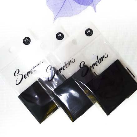 Купить Serebro, Фольга для дизайна ногтей №19, черная матовая