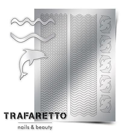 Trafaretto, Металлизированные наклейки Sea-02, серебро фото