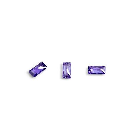 Купить TNL, Кристаллы «Багет» №2, фиолетовые, 10 шт., TNL Professional