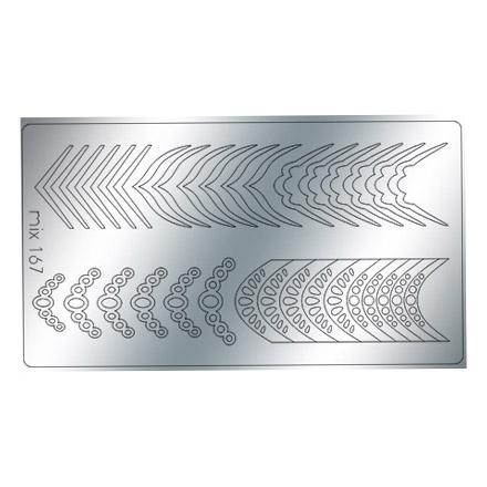 Купить Freedecor, Металлизированные наклейки №167, серебро