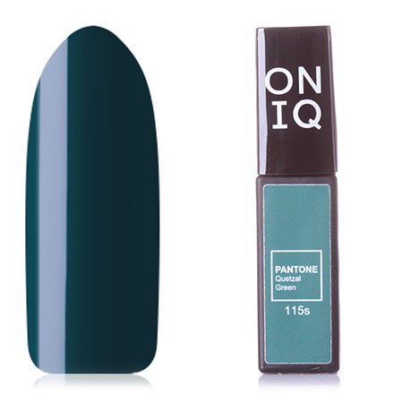 Купить ONIQ, Гель-лак Pantone №115s, Quetzal Green, Зеленый