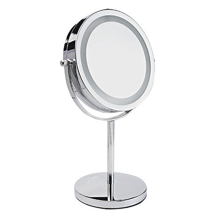 Gezatone, Зеркало косметологическое LM194, двустороннее, с подсветкой фото