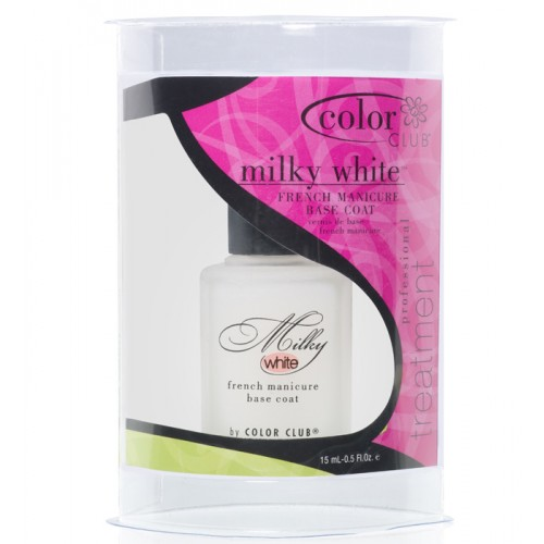 Color Club, Treatment Milky White Base Coat 15 ml color club art club цвет 053 neon orange 7 ml