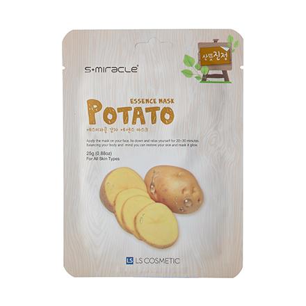 S+miracle, Маска для лица Potato Essence, 25 гМаски<br>Тканевая маска с экстрактом побегов картофеля для проблемной кожи лица.