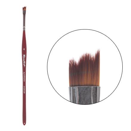 Roubloff, Кисть для дизайна, рельеф, синтетика №4 (DSR3R) кисть для дизайна ногтей dsr3r 4 roubloff коричневый
