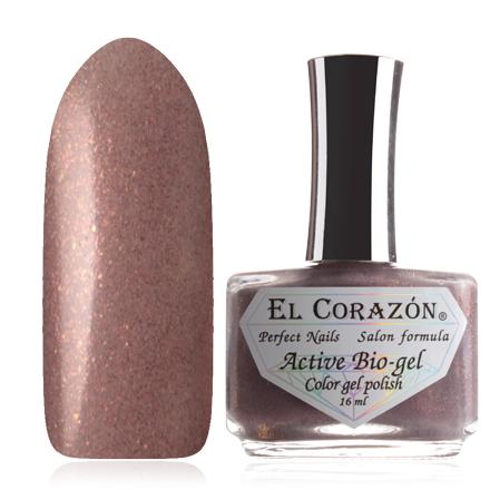 El Corazon, Серия Активный Биогель Shimmer, №423/06El Corazon <br>Лак бежевый, с золотыми и коричневыми микроблестками, полупрозрачный. Объем 16 ml.<br><br>Цвет: Коричневый<br>Объем мл: 16.00