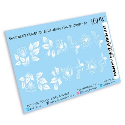 Купить BPW.Style, Слайдер-дизайн «Белые цветы» №6-57, градиент