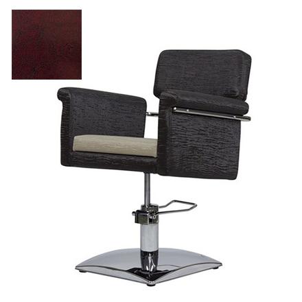 Купить Мэдисон, Кресло парикмахерское «МД-77А» гидравлическое, хромированное, бордово-черное