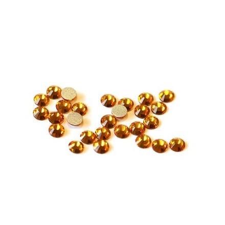 TNL, Стразы 4 мм золото, 50 шт.Стразы для ногтей TNL<br>Декоративные стеклянные стразы для роскошного маникюра.<br>