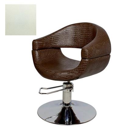 Купить Мэдисон, Кресло парикмахерское «МД-108» гидравлическое, хромированное, белое