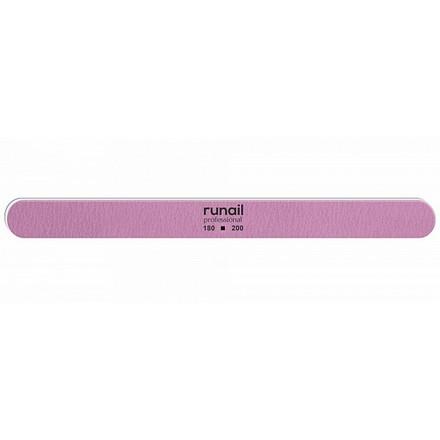 Купить RuNail, Пилка для искусственных ногтей, розовая, закругленная, 180/200
