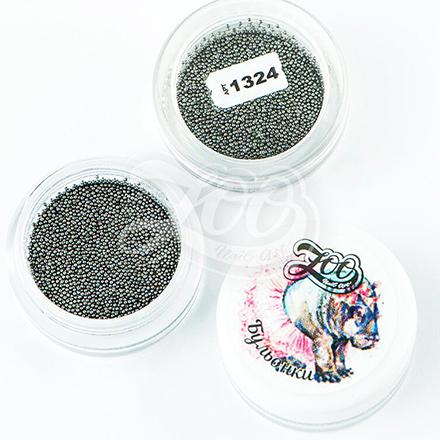 Купить Zoo Nail Art, Бульонки металлические, черные, 0, 6 мм, Черный